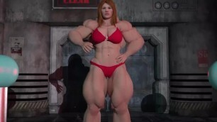 The Lab_female Muscle Growth Animation