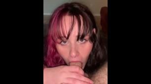 Horny Slut Sucks Stepdads Cock and wants his Cum all over Her- Dani Grey