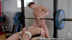 FalconStudios - Pierre Fitch Face Fucked on Workout Bench